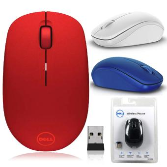 Dell WM126 Optical Mouse Wireless Original - Merah