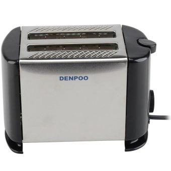 Denpoo DT-022D Pemanggang Roti Elektrik - Silver/Hitam