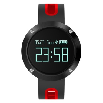 DOMINO MARVEL DM58 IP67 Waterproof Smart Bracelet - Black, Red -intl