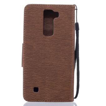 Dompet bulu burung dengan slot kartu kasus PU kulit jual penutupuntuk stan LG K7/LG K8 (kopi) (International)