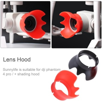 Drone Camera Sunshade Lens Protective Cover Sunhood For DJI Phantom4PRO4PRO + (Red) - intl