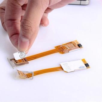 Dual SIM Card Adapter Converter Extension Extender Expansion HybridNano SIM Card & Micro SIM Card