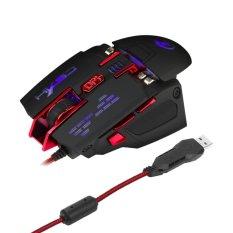 DWO X200 4000 dpi 4 tingkat yang dapat 7 diprogram Gaming Mouseoptik USB kabel lampu LED