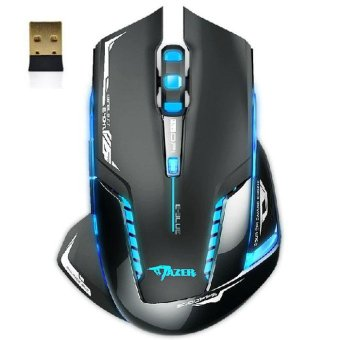 E-3lue 6D Mazer II 2500 DPI Blue LED 2.4GHz Wireless Gaming MouseBlack - intl