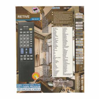 EELIC RM-109 RT Remote Control Televisi Universal Dengan 2 Baterai AA Auto Scan HDTV HDMI TV LCD LED TABUNG