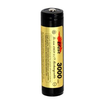 Battery Efest 18650 Li-ion Protected Battery 3000mAh with Button Top - Black/Yellow