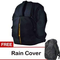 Eleven Tas Kamera Ransel 4 Lensa - Hitam + Gratis Rain Cover