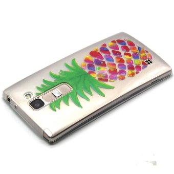 Embossed Gel TPU Cover for LG Magna H502F H500F / G4c H525N / Volt 2 LS751 - Colorized Pineapple
