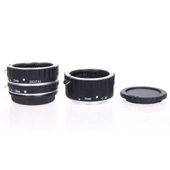 EOS EF-S 60D 7D 5D II 550D logam warna-warna-warni TTL AF makro fokus otomatis tabung ekstensi cincin untuk Canon Perak - 3
