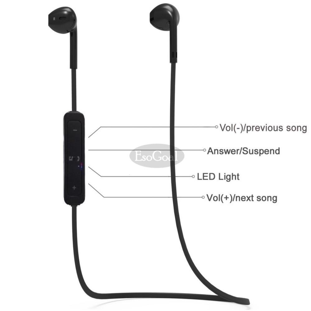 ... EsoGoal bluetooth nirkabel Headphone Sport Workout telinga tunas Gym headset berlari earphone tahan keringat earbud ...