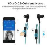 ... EsoGoal Bluetooth Wireless Headphone Olahraga Workout telinga tunas Gym headset menjalankan earphone Tahan Keringat earbud (