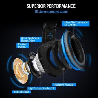 EsoGoal Permainan Headset Wired Gaming Workout Headphone Sport Earphone dengan Mikrofon untuk PC .