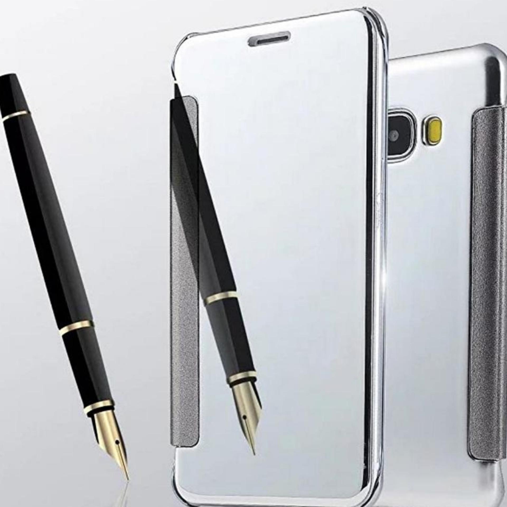 Executive Chanel Case Samsung Galaxy J7 Prime Flipcase Flip MirrorCover S View Transparan .