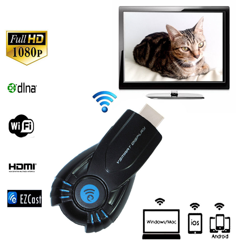Mini AirMirror Miracast DLNA Airplay Dongle tampilan WiFi Receiver HDMI 1080P multi menampilkan . Source .