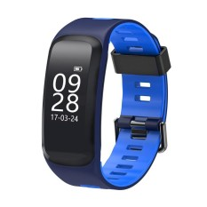 F4 IP68 Tahan Air Heart Rate Tekanan Darah Kebugaran Tracker Smart Watch (Biru)-Intl