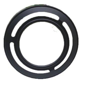 Fang adaptor logam Cincin + kerudung untuk lensa Fujifilm Fuji X10(Hitam)