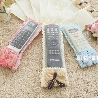 Fantastic Flower Starry Bow Fabric Remote Control Remote ControlSets of Protective Sleeve Television Air Conditioning Dust