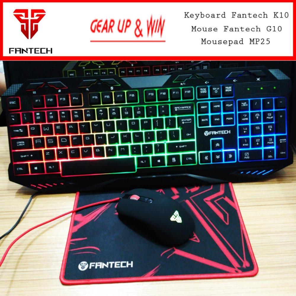 Penawaran Votre Keyboard Usb Kb2308 Mouse Optic Lampu Fantech K10 G10 Mousepad Mp25