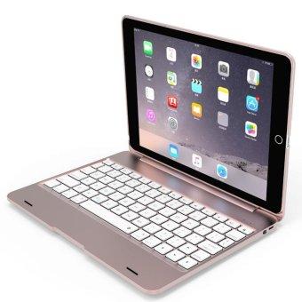 Fashion 2 in 1 Mutil-function F19+ Wireless Bluetooth Keyboard Smart Folio Case For iPad