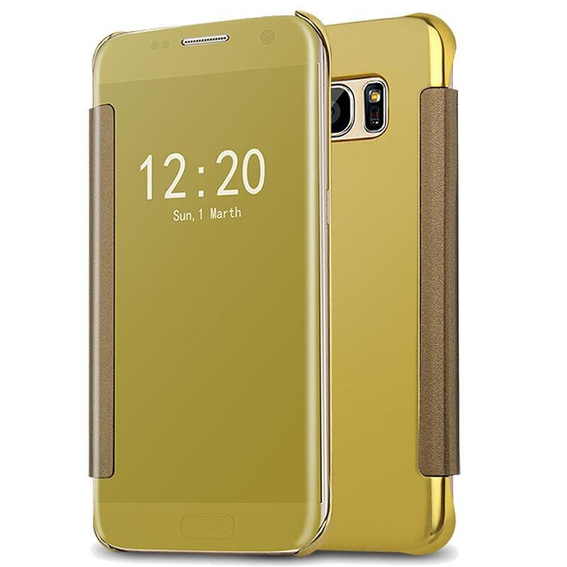 Fashion Clear View Mirror Screen Flip Case Cover For Samsung GalaxyC7 Pro /