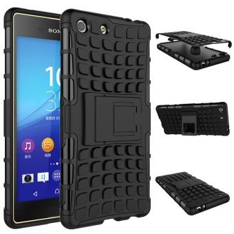 Fashion Heavy Duty Shockproof Dual Layer Hybrid Armor Pelindung Cover dengan Kickstand Case untuk Sony Xperia