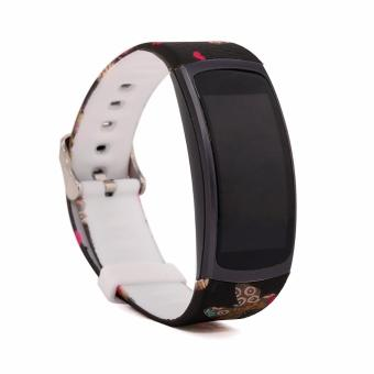 Fashion Replacement Silicone/Stainless Steel Metal Watch Band ForSAMSUNG GEAR Fit 2 Fit2 SM-R360 Bracelet Wristband Strap - intl