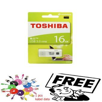 Flash Disk / Flashdisk USB Flash Memory Toshiba 16 GB - Putih free kabeldata