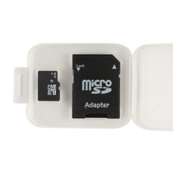 Flash memori micro SD OEM disebut TF Card 4 G + adaptor SD