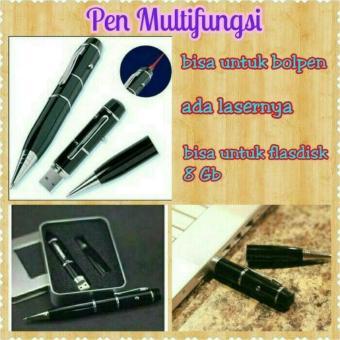 Flashdisk Pulpen Pen 8Gb with Laser Pointer Kemasan Box - Hitam