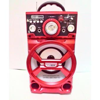 Fleco Speaker Portable Radio,SD/USB Music Player,karaoke,SD502 -Merah