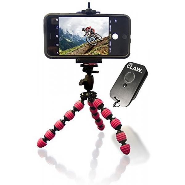 Flexible Tripod For iPhone 5 6 6S SE 7 Plus - USB RechargeableBluetooth 3.0 Remote for