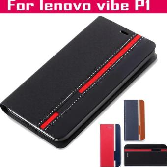 Flip Cover Denim Lenovo Vibe P1 Turbo P1M Softcase Casing Case Kulit