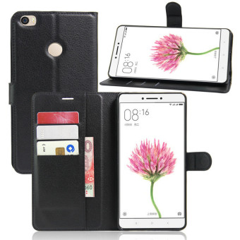 Flip PU Leather Cover Case For Xiaomi Mi Max (Black) - intl