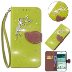 Flip Style Fashion Leaf Pattern Button bling Cover (PU leather and TPU) Stand Function Protection wallet phone case for Microsoft Lumia 640 LTE - intl