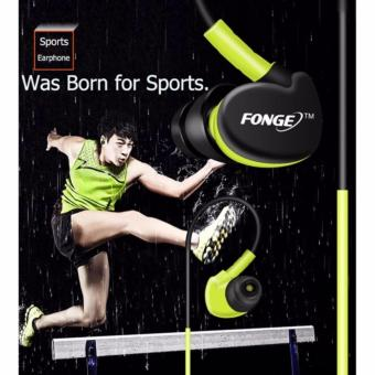 Fonge S500 Sport Earphone Anti Sweat Super Bass - Biru - 3