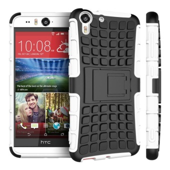 For HTC Desire eye Case, 3 in 1 Tyre Grain Shockproof Phone HousingWith Foldable Stand Holder TPU + PC Back Cover Case for HTC DesireEye - intl
