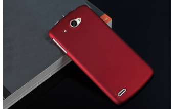 For Lenovo S920 Hard PC Ultra Thin Snap-on Back Case Cover Shell Protector - Red