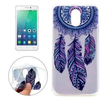 For Lenovo VIBE P1m Pinwheel Pattern Transparent Soft TPUProtective Back Cover Case - intl