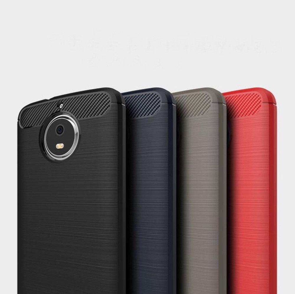For Moto G5S Plus Case Ultra Slim Thin Carbon Fiber Scratch Resistant Shock Absorption Soft TPU