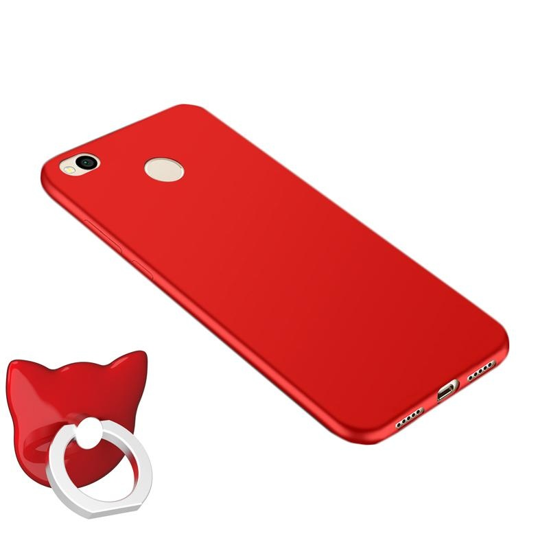 For Redmi 4X Soft Silicone Phone Case with Ring Holder/ SweatproofFingerprint-