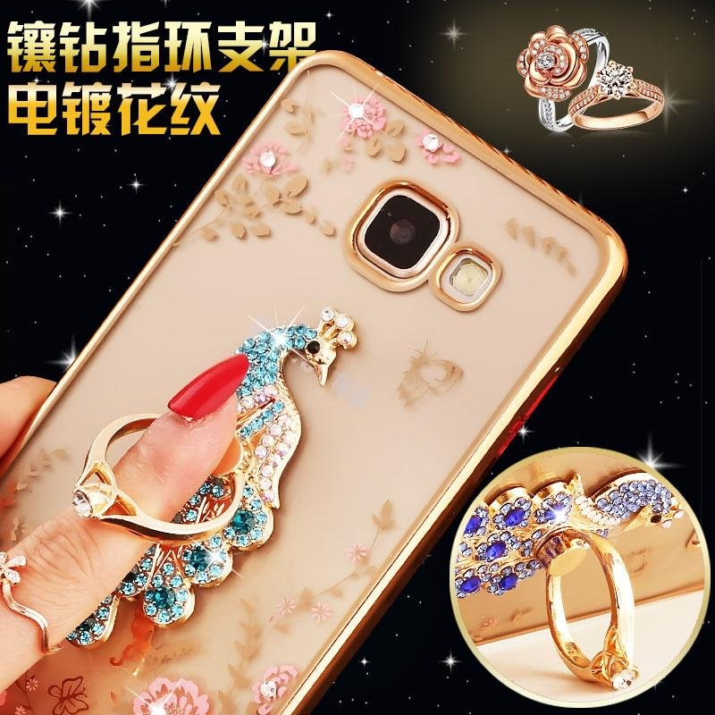For Samsung Galaxy A7 2016 Soft Phonecase Lady Mobile Phone Case Cover Casing With Ring Holder ...