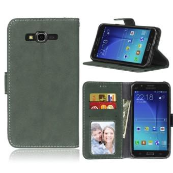 untuk Samsung Galaxy J7 2015/SM-J700 Case [Cofola] PU Kulit Flip