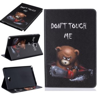 For Samsung Galaxy Tab A 10.1 With S Pen P580 Leather PU Case Flip Folio Wallet Stand Cover - Angry Bear - intl