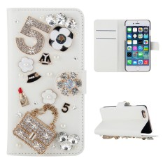 For ZTE Tempo X N9137 3D Bling Diamond Rhinestones PU Leather Wallet Case Flip Stand Card Slots Cover with Magnetic Closure - intl