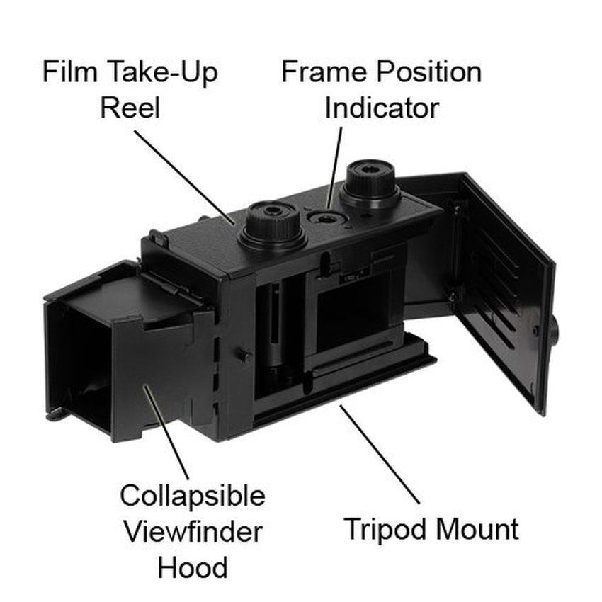 Fotodiox DIY Lomo Camera Twin Lens Reflex TLR Camera Kit - Black