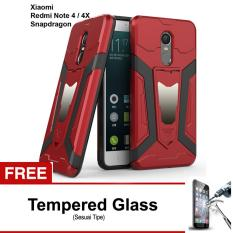 Rp 41.807. Free Tempered Glass Case Transformer Kickstand Slim Armor Hardcase for Xiaomi Redmi Note 4 Versi SnapdragonIDR41807