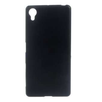 Frosted TPU Gel Phone Back Case for Sony Xperia X (Black) - intl