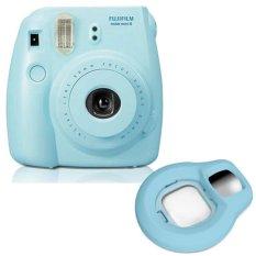 Fujifilm Fuji Instax Mini 8 Instant Photo Film Camera (Blue) +Close-up