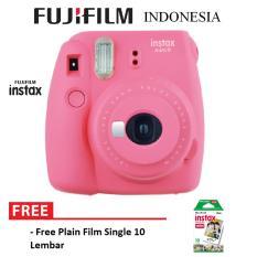 Fujifilm Instax Polaroid Camera Mini 9 Paket Standard - Flamingo Pink