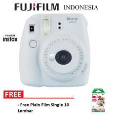 Fujifilm Instax Polaroid Camera Mini 9 Paket Standard - Smokey White